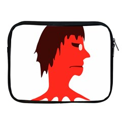 Monster With Men Head Illustration Apple Ipad Zippered Sleeve by dflcprints