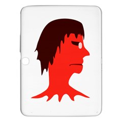 Monster With Men Head Illustration Samsung Galaxy Tab 3 (10 1 ) P5200 Hardshell Case  by dflcprints