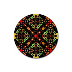 Intense Floral Refined Art Print Drink Coasters 4 Pack (round) by dflcprints