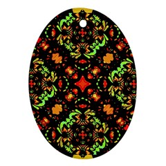 Intense Floral Refined Art Print Oval Ornament (two Sides) by dflcprints
