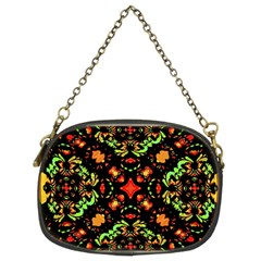 Intense Floral Refined Art Print Chain Purse (two Sided)  by dflcprints