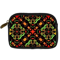 Intense Floral Refined Art Print Digital Camera Leather Case by dflcprints
