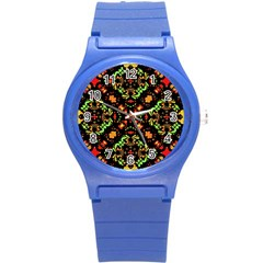 Intense Floral Refined Art Print Plastic Sport Watch (small) by dflcprints
