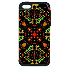 Intense Floral Refined Art Print Apple Iphone 5 Hardshell Case (pc+silicone) by dflcprints