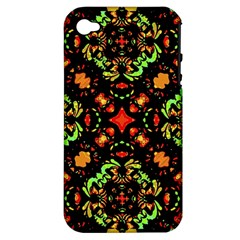 Intense Floral Refined Art Print Apple Iphone 4/4s Hardshell Case (pc+silicone) by dflcprints