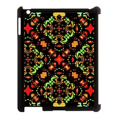 Intense Floral Refined Art Print Apple Ipad 3/4 Case (black) by dflcprints