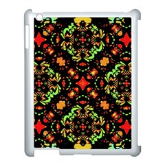 Intense Floral Refined Art Print Apple Ipad 3/4 Case (white) by dflcprints