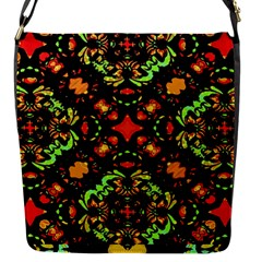 Intense Floral Refined Art Print Flap Closure Messenger Bag (small) by dflcprints