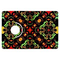Intense Floral Refined Art Print Kindle Fire Hdx 7  Flip 360 Case by dflcprints