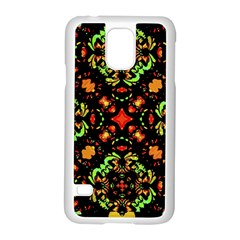 Intense Floral Refined Art Print Samsung Galaxy S5 Case (white) by dflcprints
