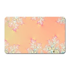 Peach Spring Frost On Flowers Fractal Magnet (rectangular)
