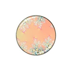 Peach Spring Frost On Flowers Fractal Golf Ball Marker 10 Pack (for Hat Clip) by Artist4God