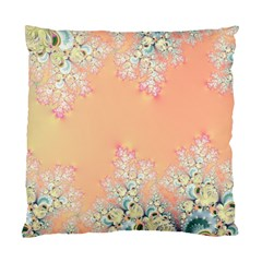 Peach Spring Frost On Flowers Fractal Cushion Case (two Sided)  by Artist4God