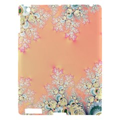 Peach Spring Frost On Flowers Fractal Apple Ipad 3/4 Hardshell Case by Artist4God