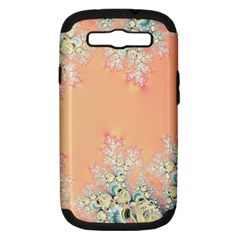 Peach Spring Frost On Flowers Fractal Samsung Galaxy S Iii Hardshell Case (pc+silicone) by Artist4God