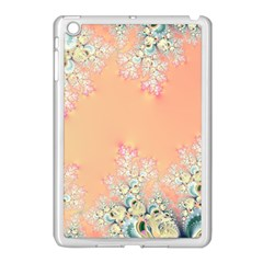 Peach Spring Frost On Flowers Fractal Apple Ipad Mini Case (white)