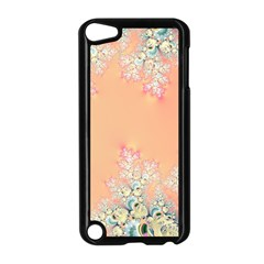 Peach Spring Frost On Flowers Fractal Apple Ipod Touch 5 Case (black) by Artist4God
