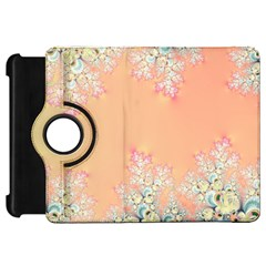 Peach Spring Frost On Flowers Fractal Kindle Fire Hd 7  (1st Gen) Flip 360 Case by Artist4God