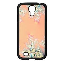 Peach Spring Frost On Flowers Fractal Samsung Galaxy S4 I9500/ I9505 Case (black) by Artist4God