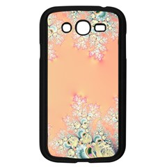 Peach Spring Frost On Flowers Fractal Samsung Galaxy Grand Duos I9082 Case (black) by Artist4God