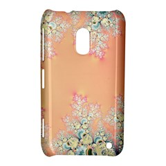 Peach Spring Frost On Flowers Fractal Nokia Lumia 620 Hardshell Case