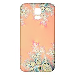 Peach Spring Frost On Flowers Fractal Samsung Galaxy S5 Back Case (white) by Artist4God