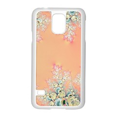 Peach Spring Frost On Flowers Fractal Samsung Galaxy S5 Case (white) by Artist4God