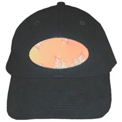 Peach Spring Frost On Flowers Fractal Black Baseball Cap