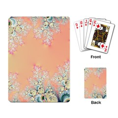Peach Spring Frost On Flowers Fractal Playing Cards Single Design by Artist4God