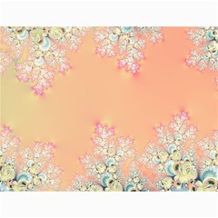 Peach Spring Frost On Flowers Fractal Canvas 12  X 16  (unframed) by Artist4God