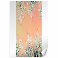 Peach Spring Frost On Flowers Fractal Canvas 20  X 30  (unframed) by Artist4God