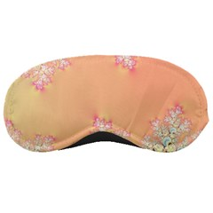 Peach Spring Frost On Flowers Fractal Sleeping Mask