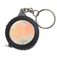 Peach Spring Frost On Flowers Fractal Measuring Tape by Artist4God