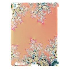 Peach Spring Frost On Flowers Fractal Apple Ipad 3/4 Hardshell Case (compatible With Smart Cover)