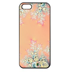 Peach Spring Frost On Flowers Fractal Apple Iphone 5 Seamless Case (black) by Artist4God