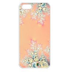 Peach Spring Frost On Flowers Fractal Apple Iphone 5 Seamless Case (white)