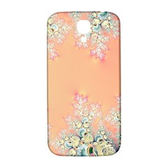 Peach Spring Frost On Flowers Fractal Samsung Galaxy S4 I9500/i9505  Hardshell Back Case by Artist4God