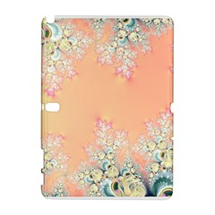 Peach Spring Frost On Flowers Fractal Samsung Galaxy Note 10 1 (p600) Hardshell Case by Artist4God