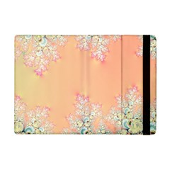 Peach Spring Frost On Flowers Fractal Apple Ipad Mini 2 Flip Case