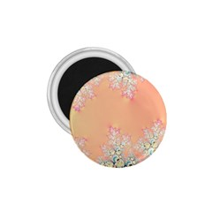 Peach Spring Frost On Flowers Fractal 1 75  Button Magnet by Artist4God