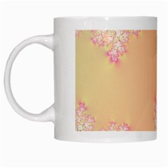 Peach Spring Frost On Flowers Fractal White Coffee Mug by Artist4God