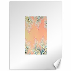 Peach Spring Frost On Flowers Fractal Canvas 36  X 48  (unframed) by Artist4God