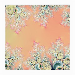 Peach Spring Frost On Flowers Fractal Glasses Cloth (medium) by Artist4God