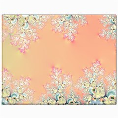 Peach Spring Frost On Flowers Fractal Canvas 11  X 14  (unframed) by Artist4God