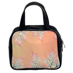 Peach Spring Frost On Flowers Fractal Classic Handbag (two Sides) by Artist4God