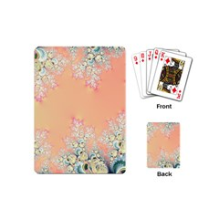 Peach Spring Frost On Flowers Fractal Playing Cards (mini) by Artist4God