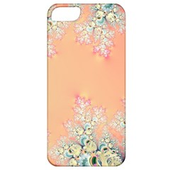 Peach Spring Frost On Flowers Fractal Apple Iphone 5 Classic Hardshell Case by Artist4God