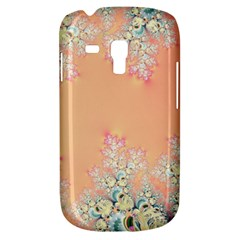 Peach Spring Frost On Flowers Fractal Samsung Galaxy S3 Mini I8190 Hardshell Case by Artist4God