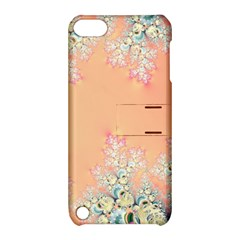 Peach Spring Frost On Flowers Fractal Apple Ipod Touch 5 Hardshell Case With Stand by Artist4God