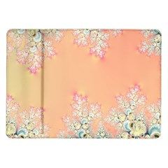 Peach Spring Frost On Flowers Fractal Samsung Galaxy Tab 10 1  P7500 Flip Case by Artist4God